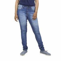 Ladies Mid Blue Jeans