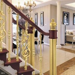 Polished Panel Brass Decorative Railing, For Hotel