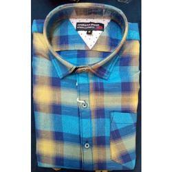 Mens Cotton Casual Wear Fashionable Dual Tone Check Shirt