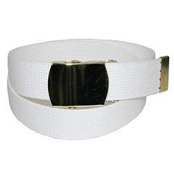 White Cotton Canvas Belt
