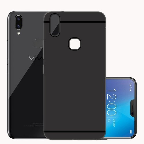 newest 3ce40 e9ac6 For Vivo V9 Back Cover Premium Quality Matte Finish Candy Slim Soft Silicon  Case
