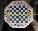 Marble inlay Chess set - Coffee Table Top