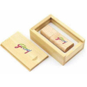 Wooden With Bamboo Box Pen Drive