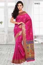 Pink Art Silk Sarees
