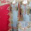 Silk Party Wear Suits W-606