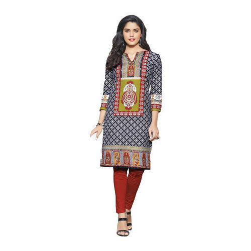 S And M Stitched And Unstitched Ladies Cotton Kurti