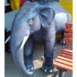 Grey Color FRP Elephant Statue