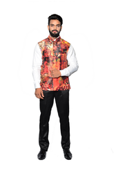 Men Printed Jawahar Cut Jacket CPS163