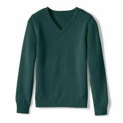 Plain V Neck Full Sleeve School Uniform Sweater