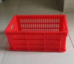 ADM Rectangular 10 Kg Plastic Storage Crate, Size: 500X325X192