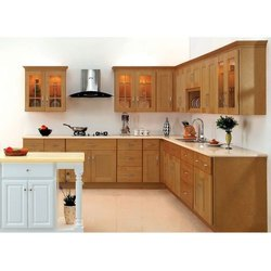 Brown Wooden Kitchen Cabinet