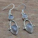 925 Sterling Silver Rose Quartz Gemstone Earring