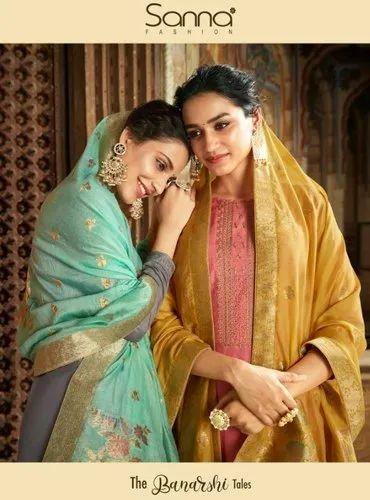 Sanna Fashion The Banarasi Indian Designer Dresses