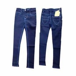 Dark Blue Kids Girls Jeans KG-OOO9, Waist Size: 22-30 & 32-40