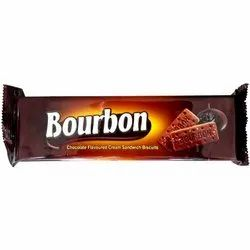 Cream Biscuits Chocolate 175 Gram Bourbon Biscuit, Packaging Type: Packet