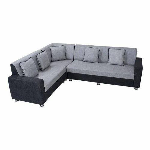 Black And Gray L Shape Designer Sofa Rs 25000 Piece Shakshi Enterprises Id 19823975730