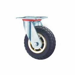 IV-13-PL-200-SRT-BR Swivel Solid Rubber Caster Wheel