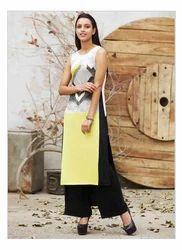 Yellow Printed Sleeveless Kurta 16AU16063-47250