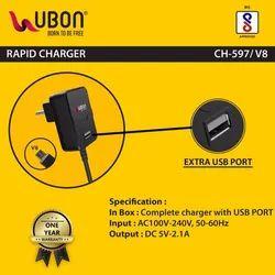 1.5 Mtr Black CH-597/V8 Ubon Rapid Charger