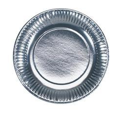 silver paper plate thali