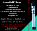 UV Lamp Germicidal  - UV Sterilizer for Hospitals, Offices, Public Areas