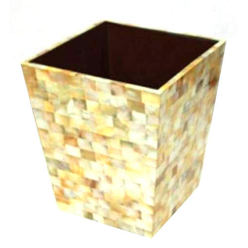 Luxury Waste Basket With Mop Inlayed At