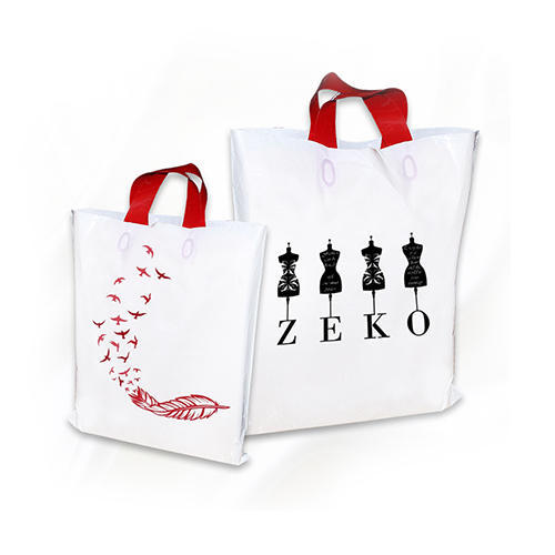 Non Woven White Screen Printed Carry Bags