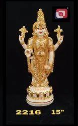 Artificial Gold Polyresin Venkateswara Swami Tirupati Balaji Idol