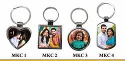 Metalized Sublimation Keychain, For Gifts