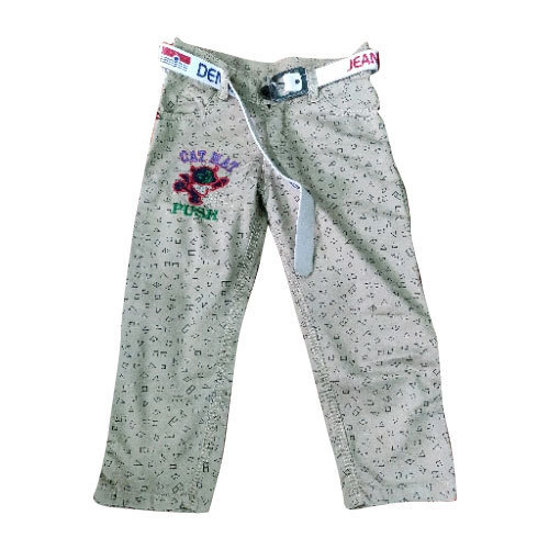09b24cd0f White Cotton Kids Printed Pant