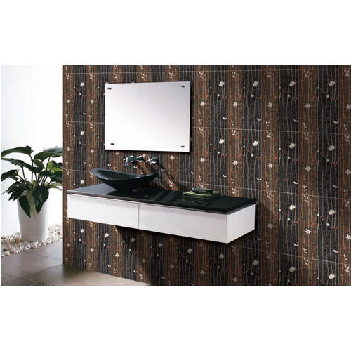 Brown Ceramic Designer Highlighter Tiles, Size: Medium