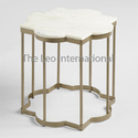 European Style Decorative Metal Coffee Table Marble Top