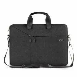 Black Canvas Gent Business Messenger Briefcase Bag for 15.6