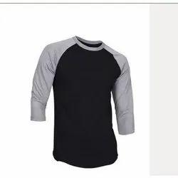 Alpha Round Mens Full Sleeve Cotton T Shirt, Size: S-XXL