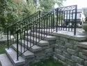 Outdoor Stair Railing Construction