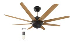 Octet Walnut Black Nickel Ceiling Fan