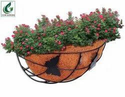 Coir Garden 12 Inch Half Butterfly Coir Basket