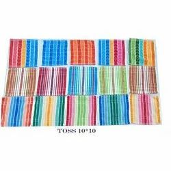 Jacquard Woven Cotton TOSS Face Towels, Size: 10x10 inch