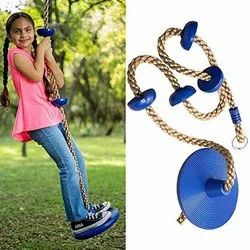 Climbing Rope With Disk Swing Set