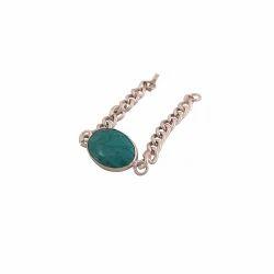 Silver Plated Navratna Bracelet
