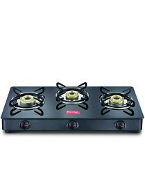 Prestige 3 Burner Gas Stove, For Kitchen