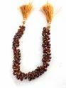 Hessonite Garnet Faceted Teardrop Stone Beads
