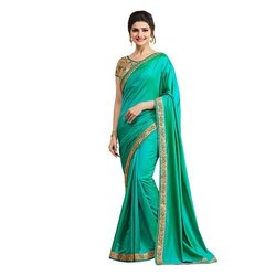 Party wear Ladies Fashionable Silk Saree, 5.5 M (separate Blouse Piece) ,packaging Type: Packet
