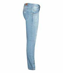 Denim Blue Slim Ladies Ankle Jeans