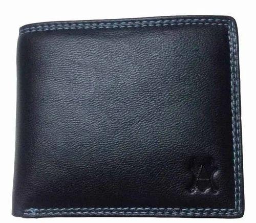 Suzuki Bifold Men Wallet Black Genuine Leather 3 Credit Card Holder 1 ID Window