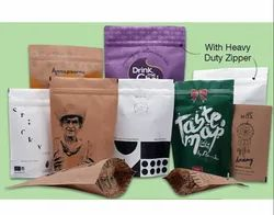 Eco-Friendly Paper Bags with Zipper