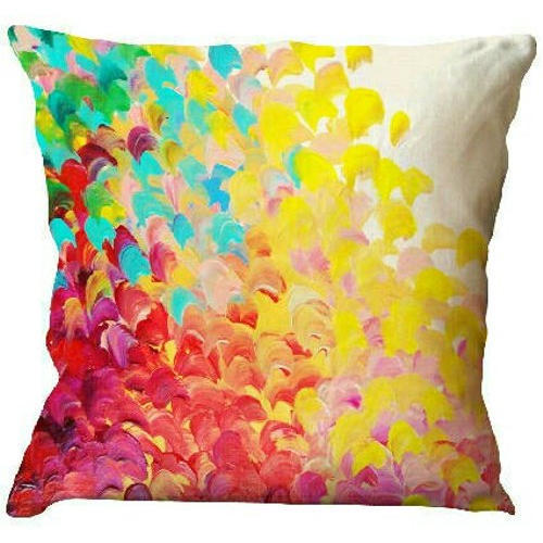 Silk Washable Printed Cushion Cover