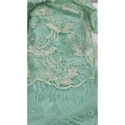 Sea Green Embroidered Net Fabric