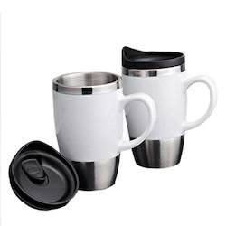 White Sipper With Handle