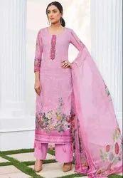 Puce Pink Floral Print Palazzo Kameez